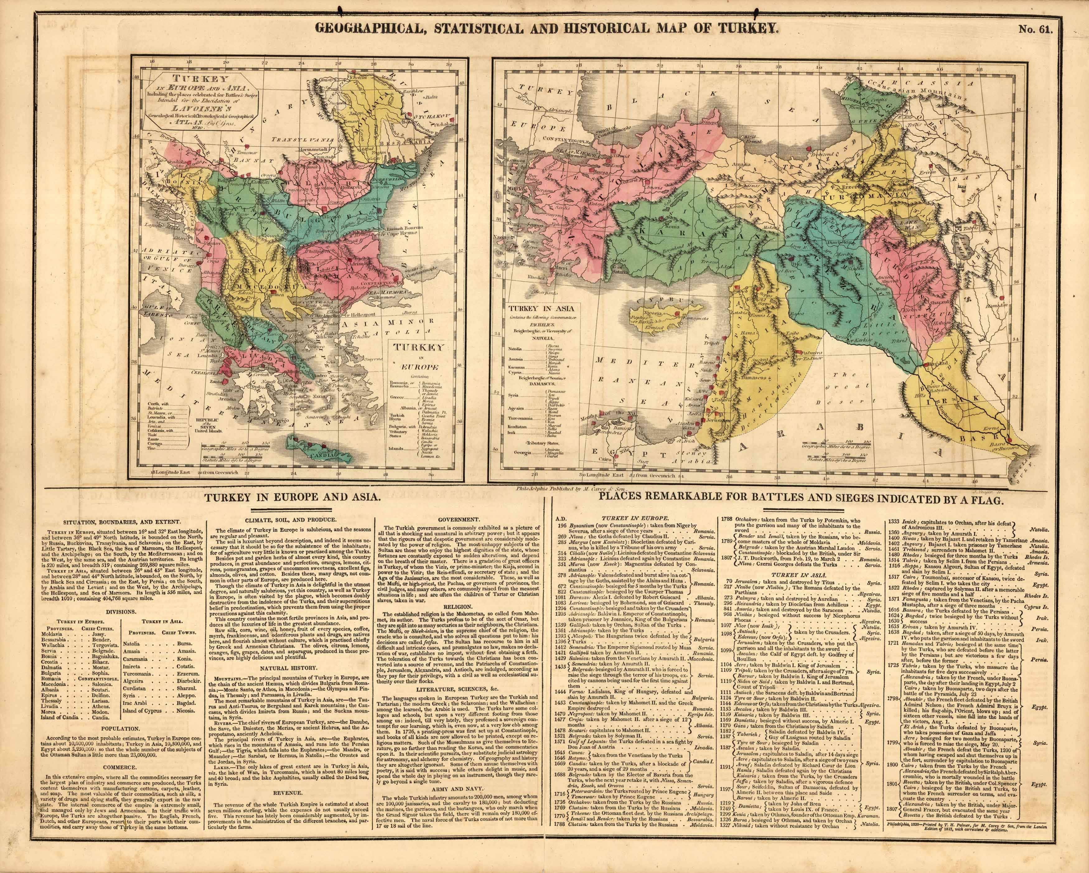 Picture of: Geographical Statistical And Historical Map Of Turkey Art Source International