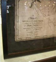 Framed Lewis & Clark Map