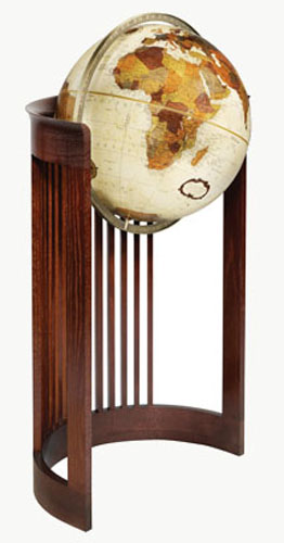 The Barrel Chair Floor Globe - Bronze Metallic