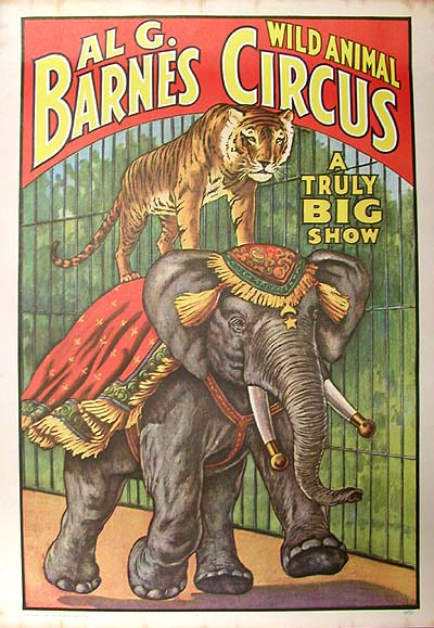 Al G. Barnes Circus (Reproduced in 1960)