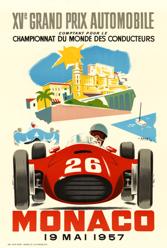 XVth Grand Prix Automobile Monaco 19 Mai 1957