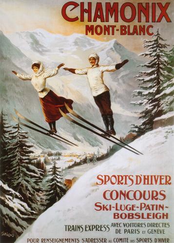 Chamonix - Couple Ski Jumping