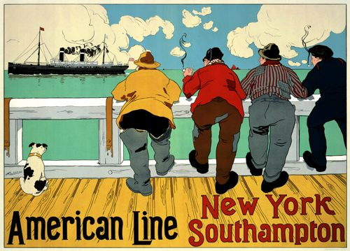 American Line - New York to Southampton