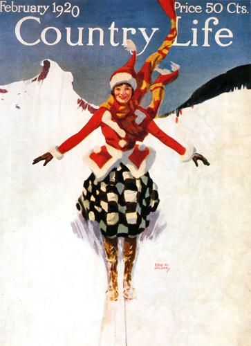 Vintage Skiing Magazine Cover - Country Life