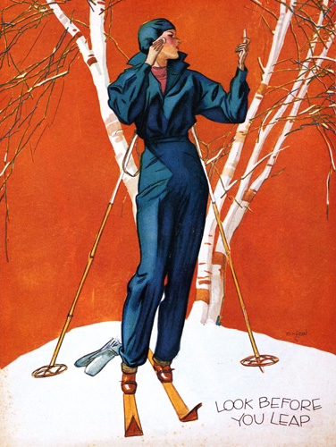 Vintage Skiing Magazine Cover - Judge Magazine