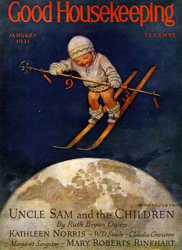 Vintage Skiing Magazine Cover - Good Housekeeping