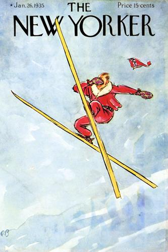 Vintage Skiing Magazine Cover - The New Yorker
