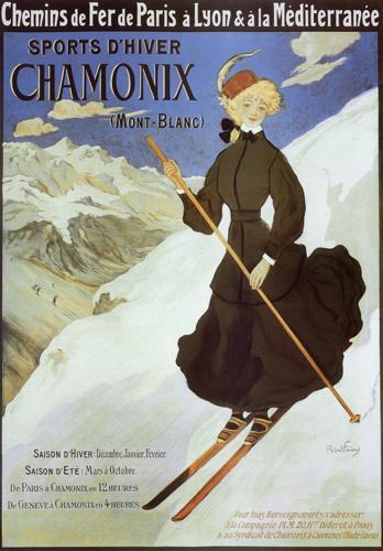 Chamonix - Lady Skier