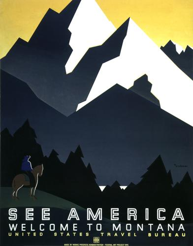 See America - Welcome to Montana (Horseman)