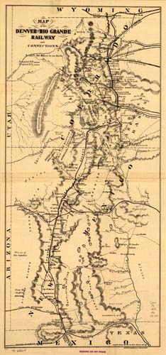 Map of the Denver & Rio Grande Railway