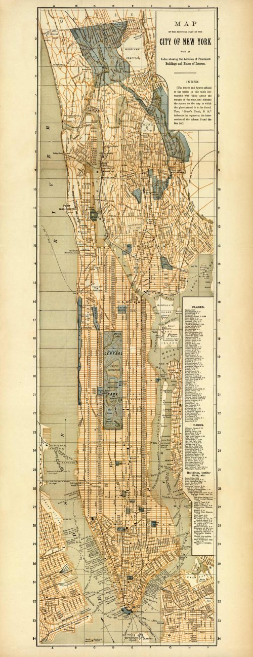 Map of the Principal Part of the City of New York