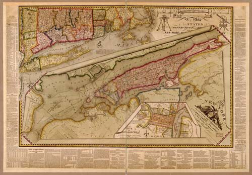 City of New York with the Surrounding Country - 1821