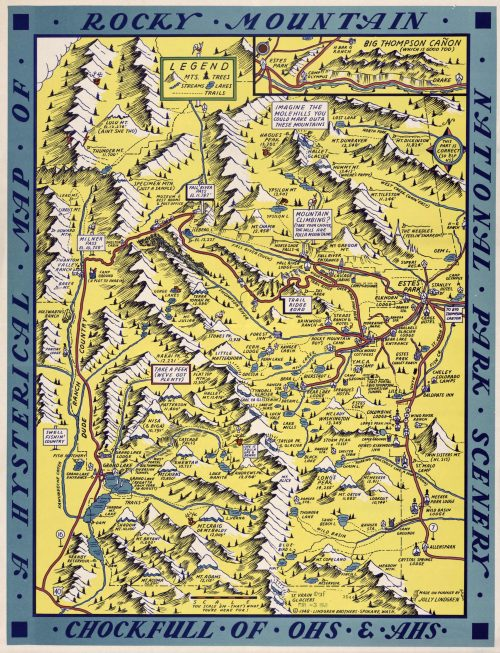 A Hysterical Map of Rocky Mountain National Park