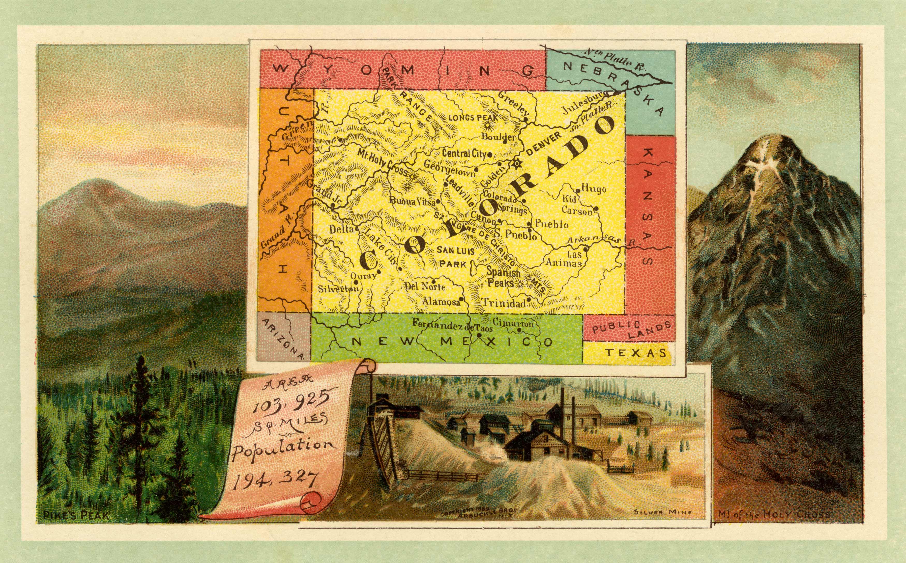 Arbuckles' Coffee Card of Colorado (Reproduction)
