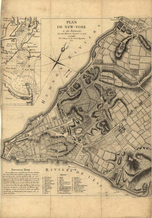 Plan de New-York et des environs