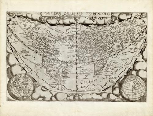 Uniuersi Orbis seu Terreni Globi in Plano Effigies (Sphere in the Whole World