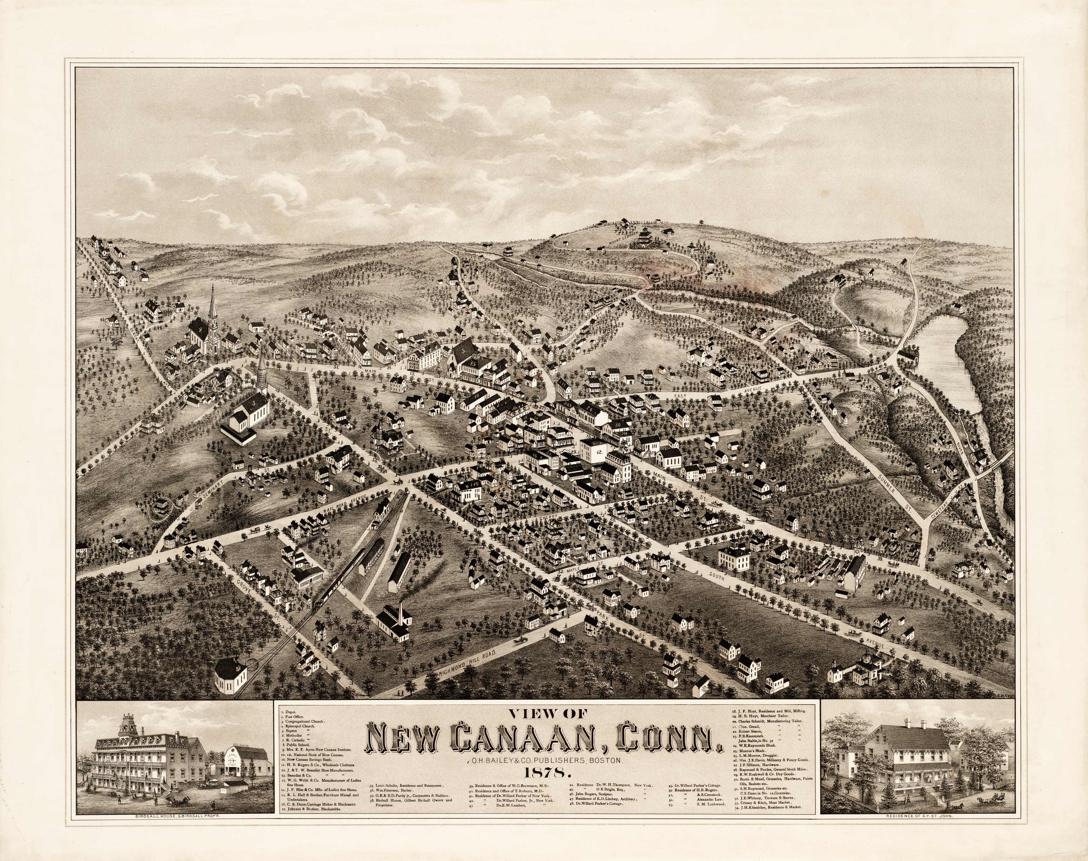 View of New Canaan
