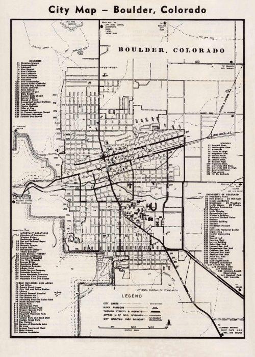 City Map - Boulder