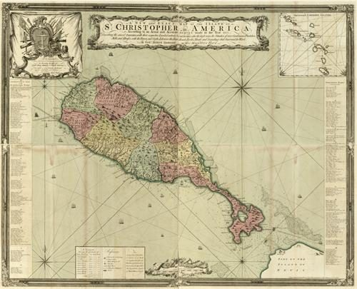 A New and Exact Map of the Island of St. Christopher (St. Kitt's)