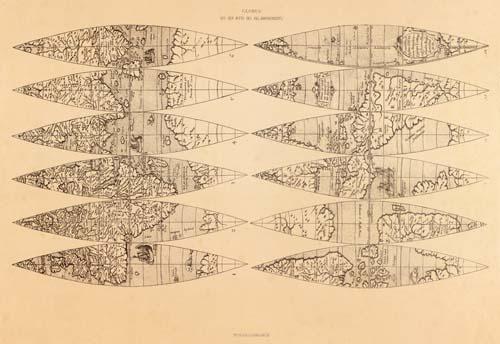 Globus aus der Mitte des XVI Jahrhunderts [World Globe Gores]