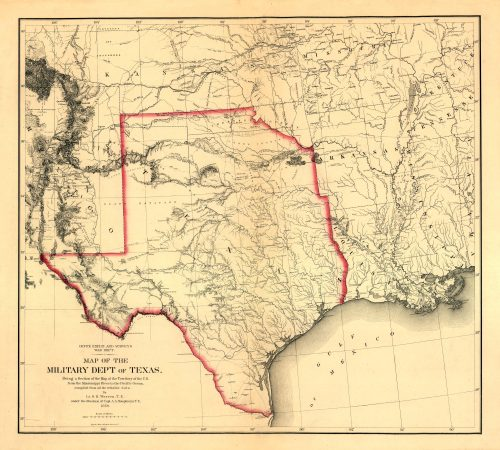 Map of the Military Department of Texas 1859
