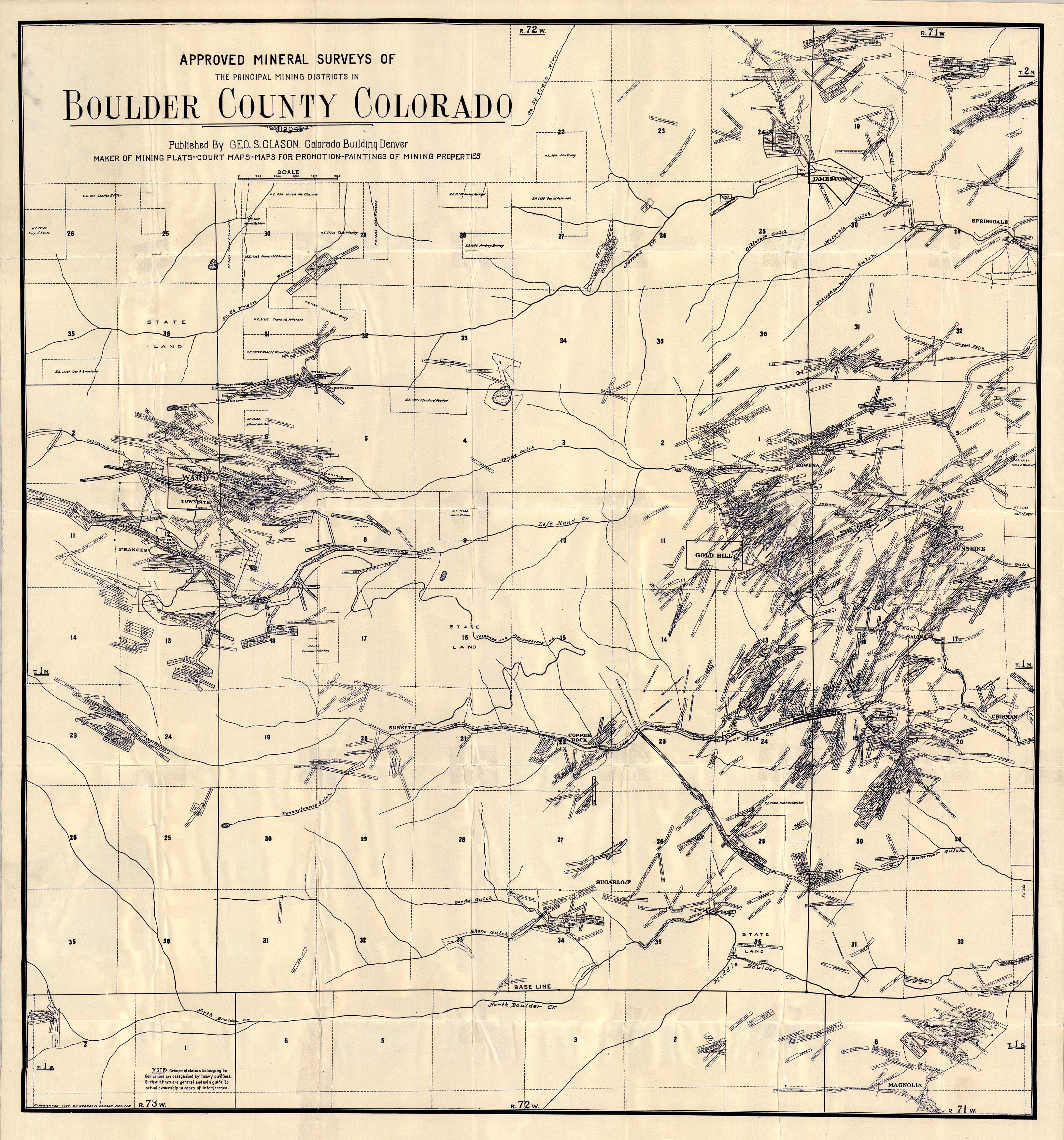 Approved Mineral Surveys of Boulder County