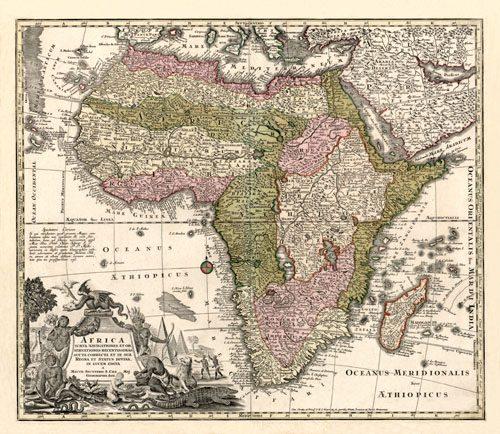 Africa Iuxta Navigationes et Observationes Recentissimas Aucta