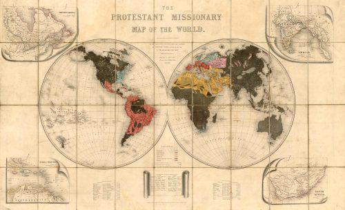 Protestant Missionary Map of the World