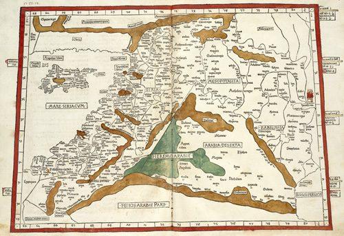 Quarta Asie tabula continet Cyprum & Syrium & Iudea