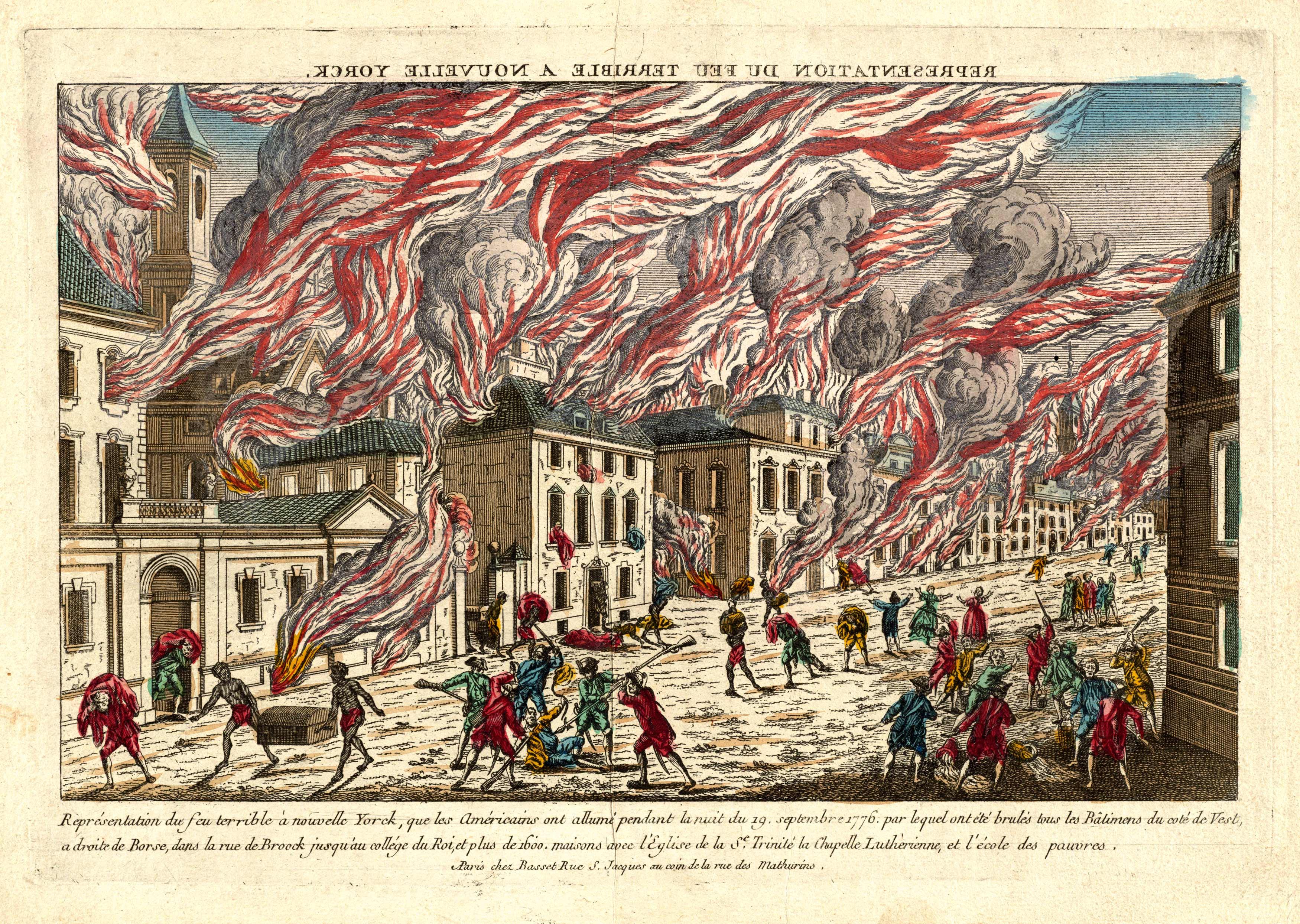 Repre�sentation du feu terrible a` Nouvelle Yorck