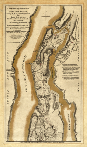 A Topographical Map of the North Part of New York Island