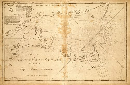 A Chart of Nantucket Shoals by Capt. Paul Pinkham