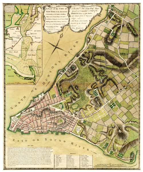 A Plan of the City of New-York & its Environs to Greenwich