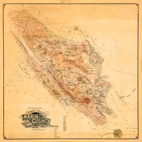 Official Map of Marin County