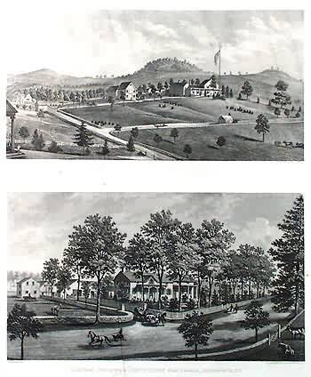 Two Prints of New York Residences