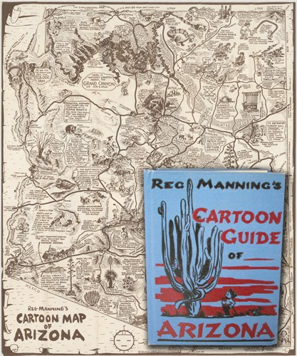 REG MANNING'S CARTOON GUIDE OF ARIZONA