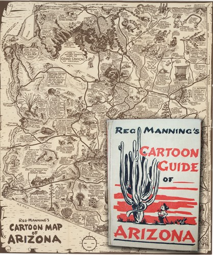 REG MANNING'S CARTOON GUIDE OF ARIZONA