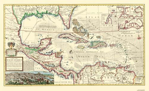 A Map of the West-Indies
