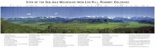 View of the San Juan Mountains from Log Hill