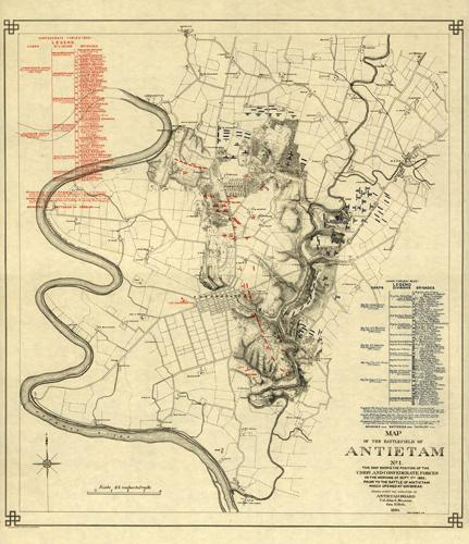 Map of the Battlefield of Antietam