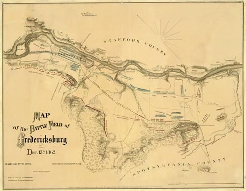 Map of the Battle Field of Fredericksburg - Dec. 13th