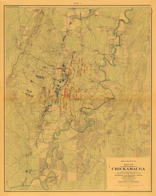 Map of the Battlefield of Chickamauga