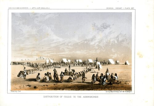 Distribution of Goods to the Assiniboines