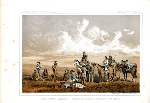 Lieut. Crover's Despatch - Return of Governor Stevens to Fort Benton