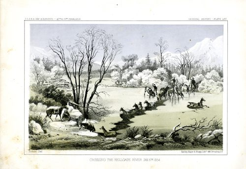 Crossing the Hellgate River Jan. 6th 1854
