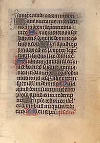 Book of Hours Leaf