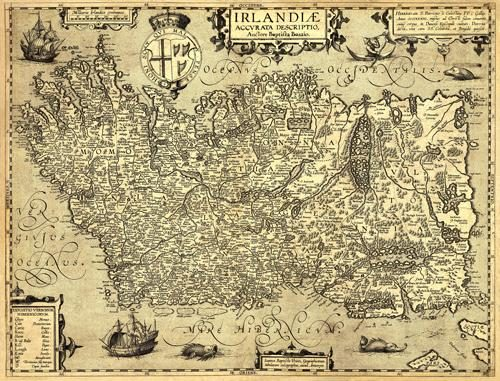Ancient Map Of Ireland.Old Map Reproductions Art Source International