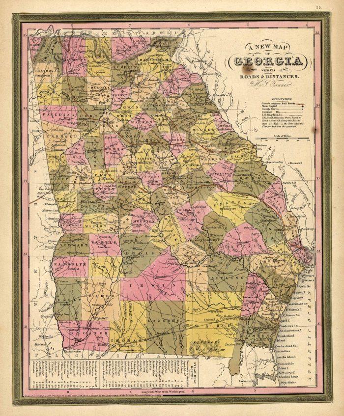 Mitc's 1846 New Map of Georgia with its Roads & Distances on map of italy, blue ridge georgia, dallas georgia, map of africa, map of texas, map of michigan, marietta georgia, map of the world, roswell georgia, albany georgia, jekyll island georgia, kennesaw georgia, map of south america, map of europe, map of north carolina, map of canada, gainesville georgia, waycross georgia, map of china, map of germany, statesboro georgia, map south carolina, duluth georgia, newnan georgia, map of usa, map alabama, canton georgia, decatur georgia, plains georgia, map of virginia, savanna georgia, tifton georgia, map of mexico, map of florida, dacula georgia, map of the united states, map of ohio,