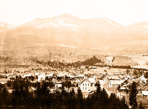 Breckenridge from Lincoln Ave showing Peak Eight