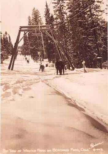 Ski Tow at Winter Park on Berthoud Pass